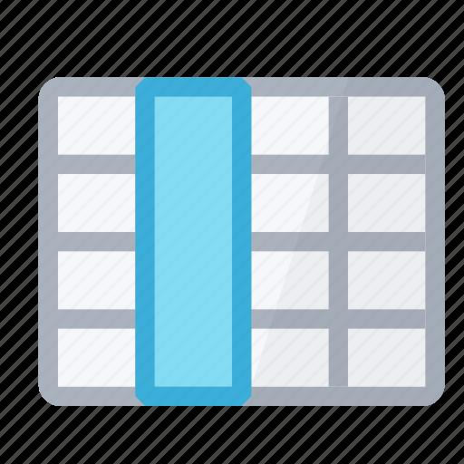 column, select, selection, table icon