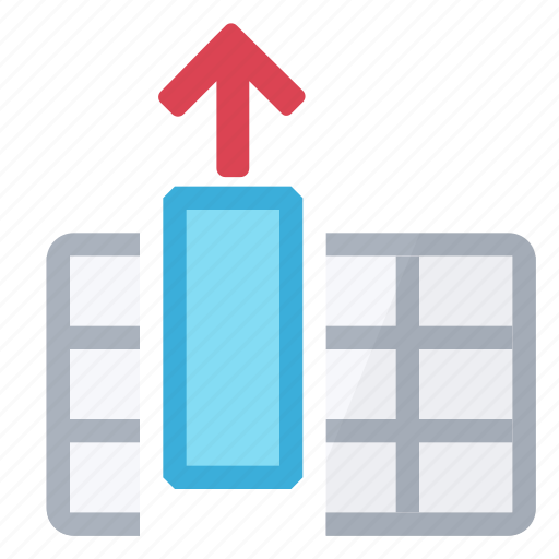 column, extract, table icon