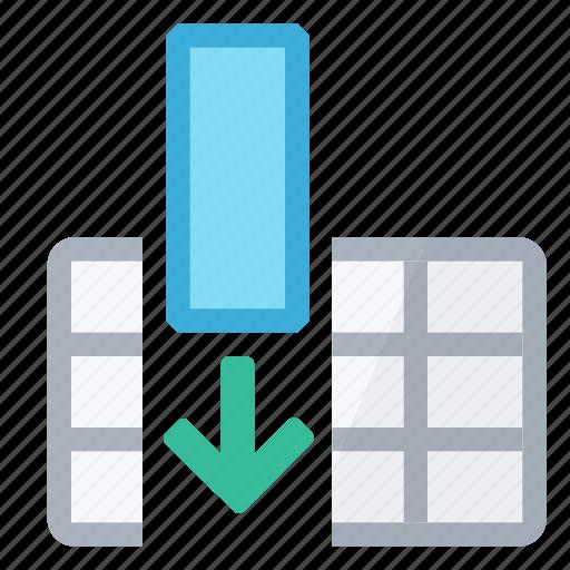 column, insert, table icon