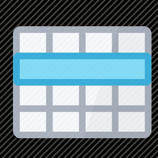row, select, selection, table icon