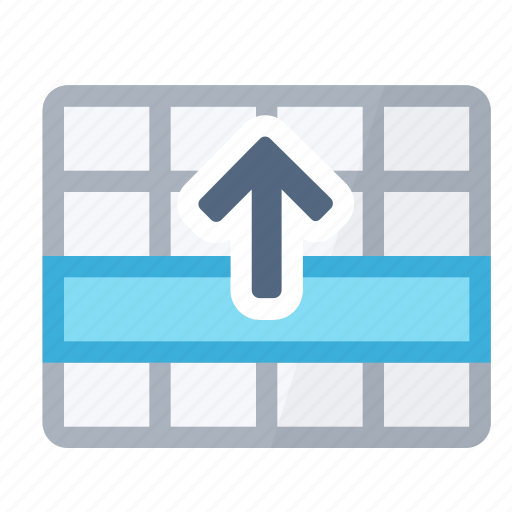 move, row, selection, table, up icon