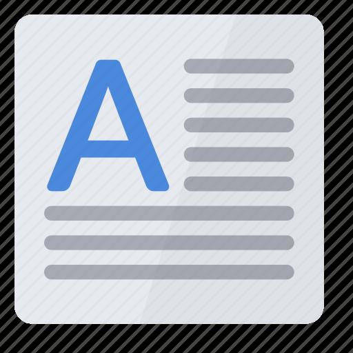 box, text icon