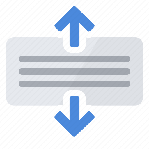 align, text, vertical icon