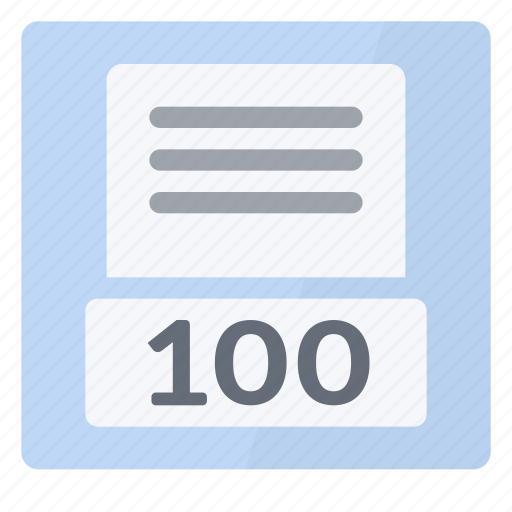 nominal, one hundred, page, percent, view icon