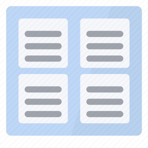 four, page, view icon