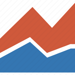 analytics, area plot, business, charts, graph, report, statistics icon