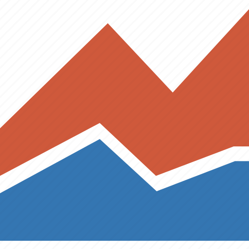 analytics, area plot, business, charts, graph, report, statistics icon