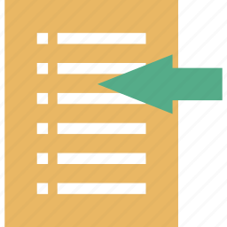 business, file properties, import data, import list, import text, info, items icon