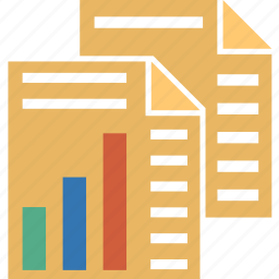 analysis, analytics, charts, graph, pages, reports, statistics icon