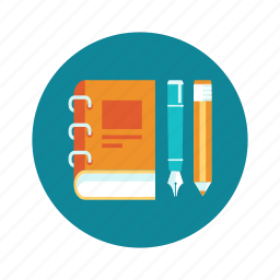 book, education, learn, pen, pencil, read icon