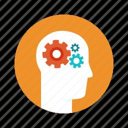 brain, brainstorm, education, head, human, study icon
