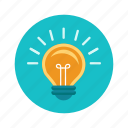 brainstorm, bulb, creative, idea, light, lightbulb icon