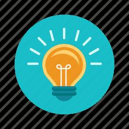 brainstorm, bulb, creative, idea, light, lightbulb icon