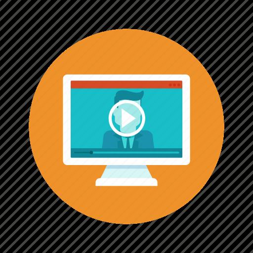 education, online, training, tutorial, webinar icon