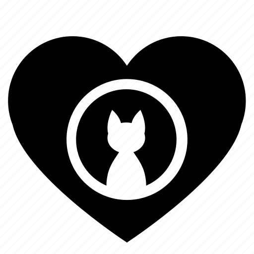 cat, heart, kitty, like, love, romantic icon