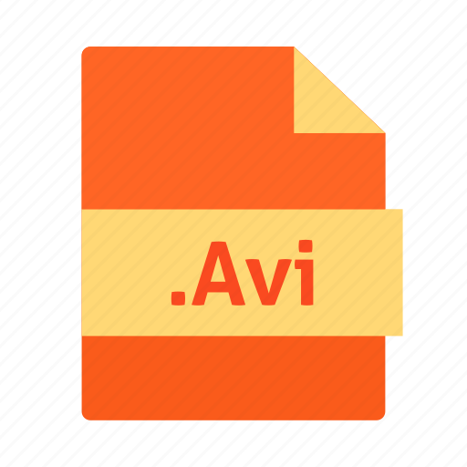 avi, extension, file, name, video icon