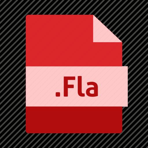 adobe flash, extension, file, fla, name icon