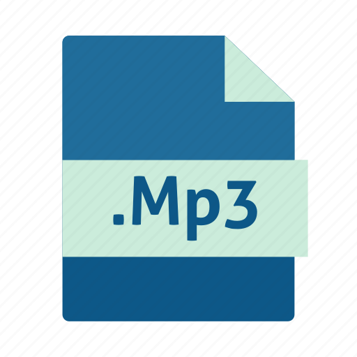 extension, file, mp3, music, name icon
