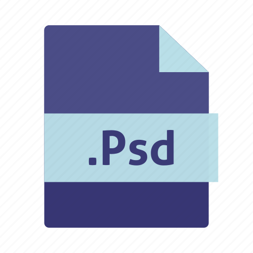 document, extension, file, name, photoshop, psd icon