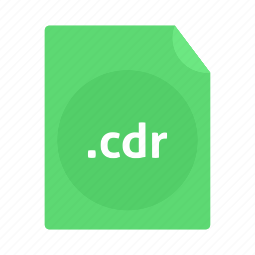 cdr, document, file, name, page icon