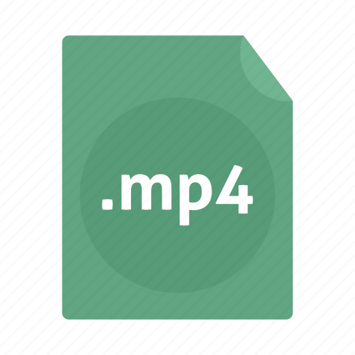 document, file, mp4, name, video icon