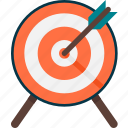 advertising, archery, dart, finance, hunting, marketing, target icon