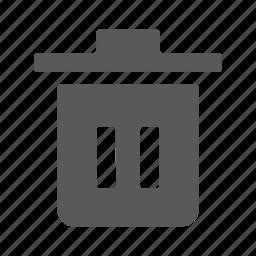 bin, clean, delete, empty, remove, trash icon