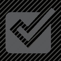approve, check, checkbox, task, tick, valid icon