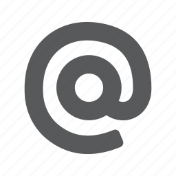 at, email, mail, sign icon