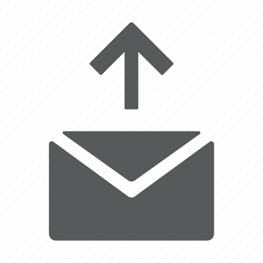 email, letter, mail, message, send, sms, upload icon