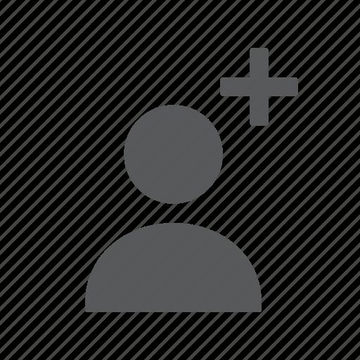 account, add, create, new, person, user icon