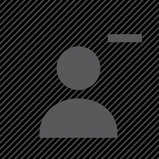 account, delete, person, remove, user icon
