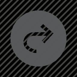 arrow, right, sign, traffic, turn icon