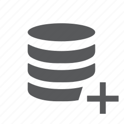 add, create, data, database, new, server, system icon