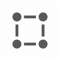 communication, connection, network, nodes, rectangle, resize, transform icon