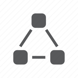 communication, connection, network, node icon