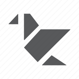 bird, fold, origami, paper, swan icon