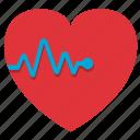 cardiogram, fitness, gym, health, healthy, heart, heartbeating, medicine, palpitation, sport, sports, stamina icon