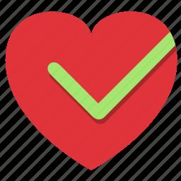 check, checkmark, fitness, gym, health, healthy, heart, heart check, sport, sports, stamina icon