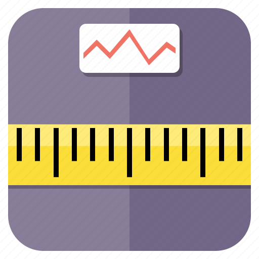 dimension, feet, fitness, gym, health, inch, measure, measurement, ruler, scale, size, sm, sport, sports icon