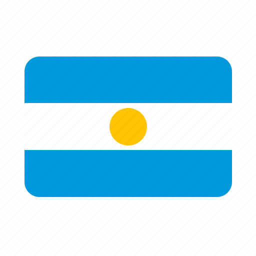 argentina, country, flag, flags, world icon