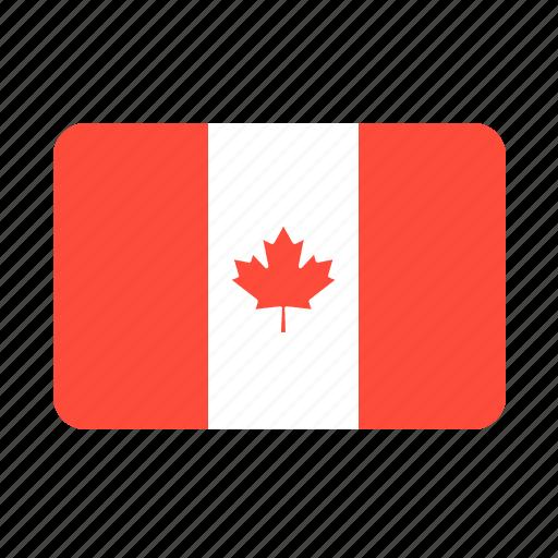 canada, country, flag, leaf icon