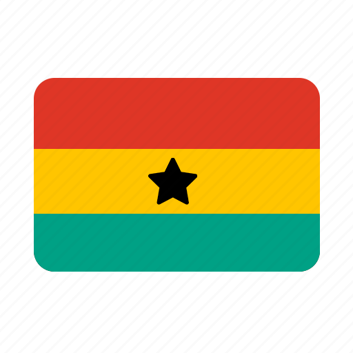flag, flags, ghana icon