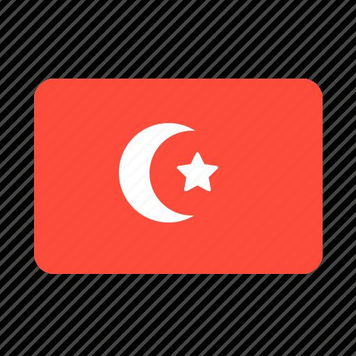 country, flag, turkey icon