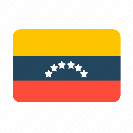 county, flag, venezuela icon