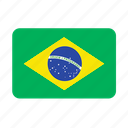 brazil, country, flag, flags, football, samba, south america icon