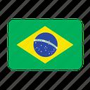 brazil, country, flags, football, samba, south america, flag icon
