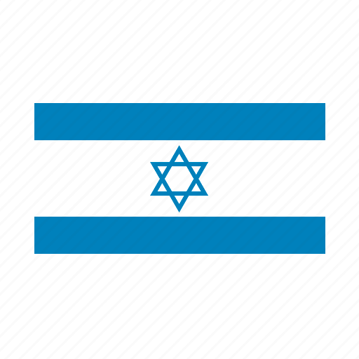 country, flag, isreal icon