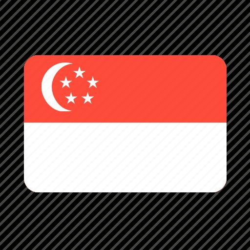 asian, country, flag, singapore icon
