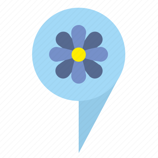 bud, flower, geo, plant, point, tag icon